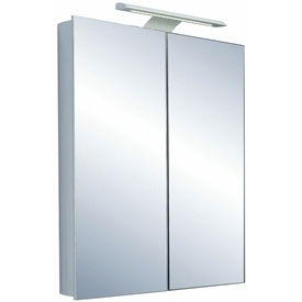 Saneux Ice 600 2 door mirror cabinet