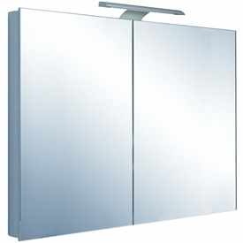Saneux Ice 900 2 door mirror cabinet