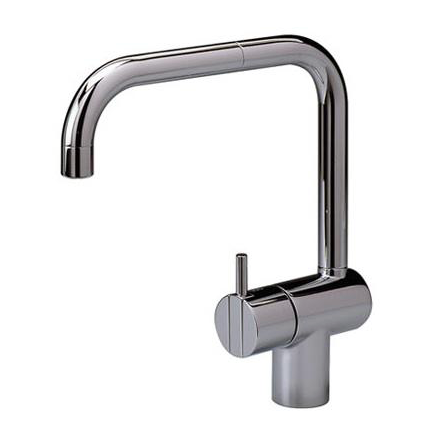 One handle mixer with double swivel spout