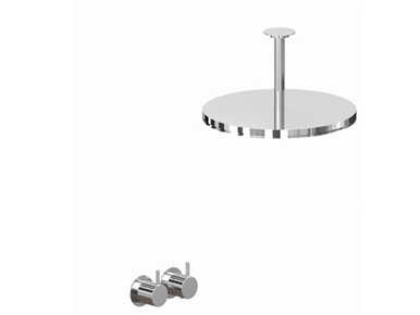 Vola shower mixer with ceiling shower head