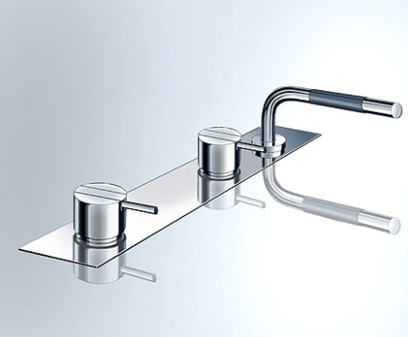 Vola one-handle mixer for bath filling