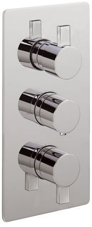 Concealed thermostatic shower valve with 3 way diverter