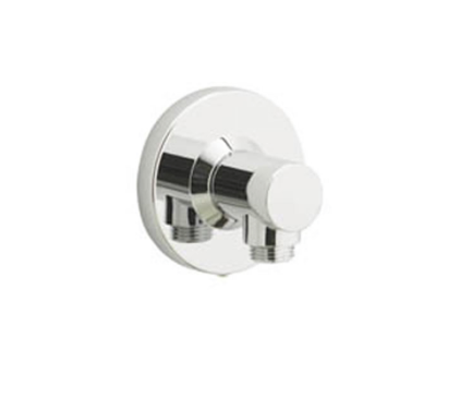 Options Push fit round wall outlet