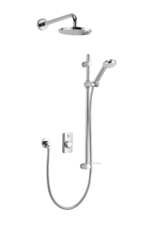 Visage Concealed adjustable with fixed wall head HP/Combi