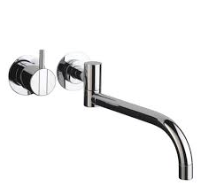 Vola Wall mounted basin mixer