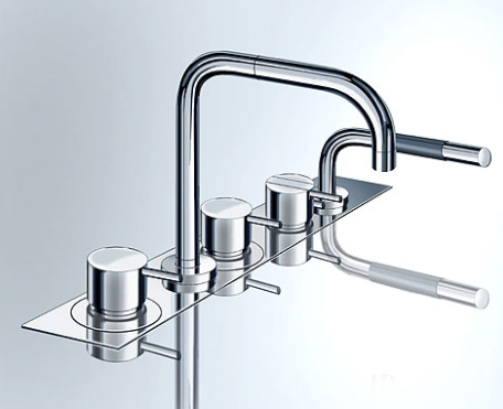 Vola two- handle bath mixer