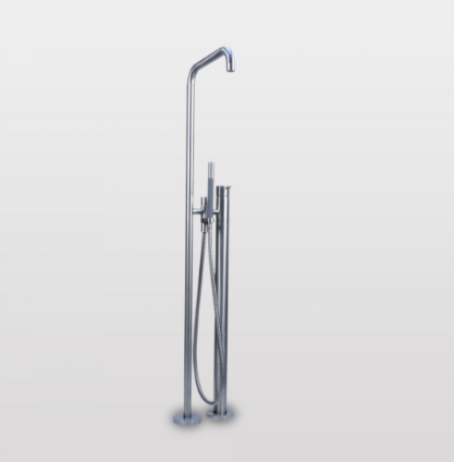 Vola free-standing bath mixer with hand shower